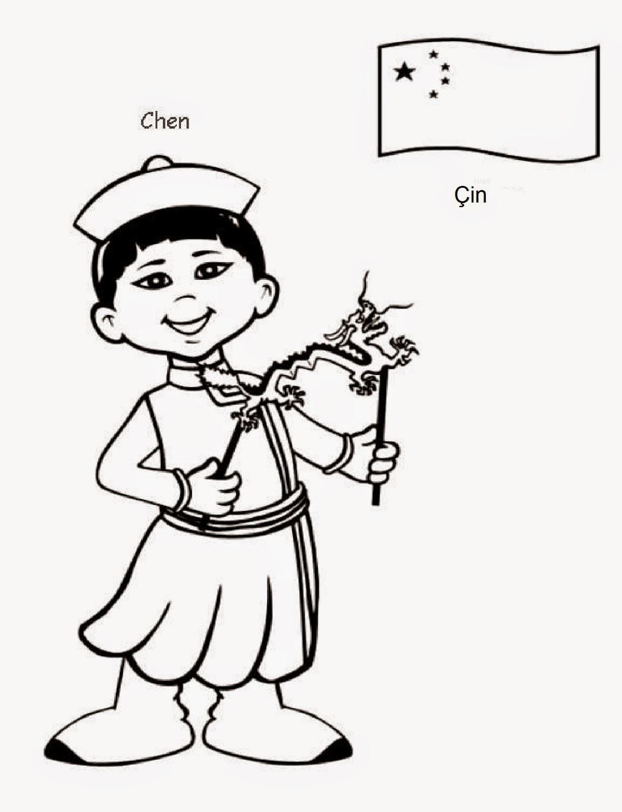 Dünya çocukları Boyama Kağıtları Tam 20 Tane