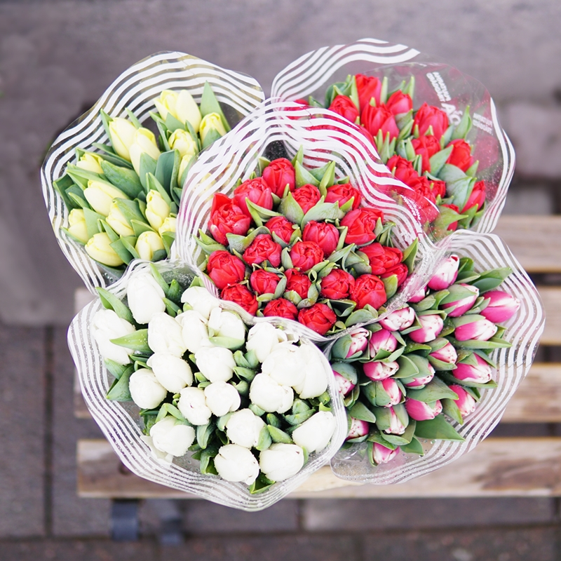 tulppaani, perjantaipuska, kukkakimppu, kukkakauppa