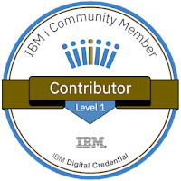IBM i Community Contributor award