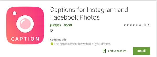 caption for instagram and facebook