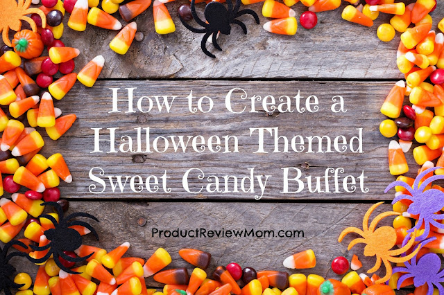 How to Create a Halloween Themed Sweet Candy Buffet  via  www.productreviewmom.com