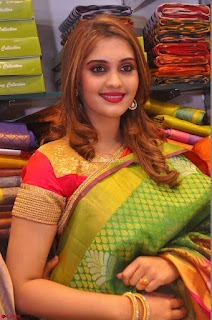 Surabhi looks stunning in Saree at Nakshatra Fashion Store Launch at Suchitra X Road 11.JPG