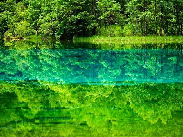 بحيرة الزهور الخمسة (الصين). الصورة من قبل مايكل ياماشيتا Michael Yamashita