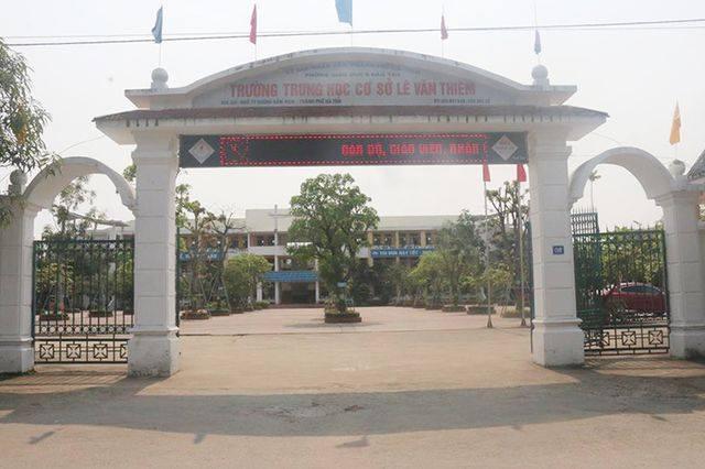 Trường THCS Lê Văn Thiêm – nơi nữ sinh H. đang theo học