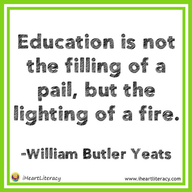 Education is not the filling of a pail, but the lighting of a fire. #teacherinspiration