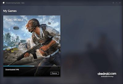 Download otomatis Game PUBG Mobile di Tencent Gaming Buddy PC
