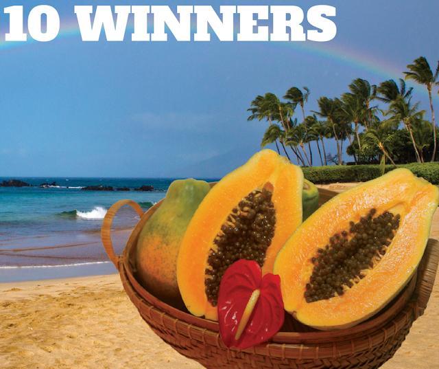 WIN 1 of 10 Boxes of Hawaiian Rainbow Papayas