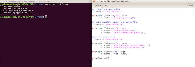 python file write
