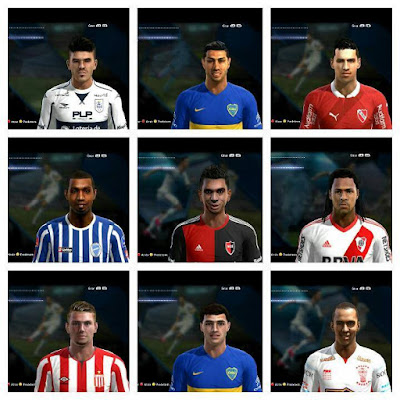 PES 2013 Facepack Argentino V8 by Facemaker LER