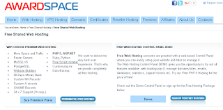 award space free hosting