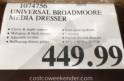 Deal for the Universal Broadmoore Media Dresser at Costco