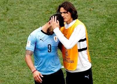 MUNDIAL 2018: URUGUAY 0 FRANCIA 2 -  BRASIL 1 BÉLGICA 2