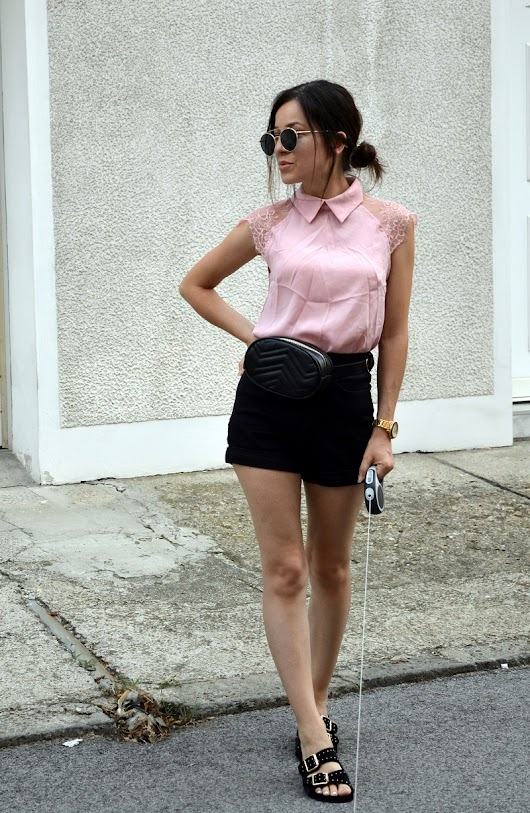 Outfit | Pink and lace