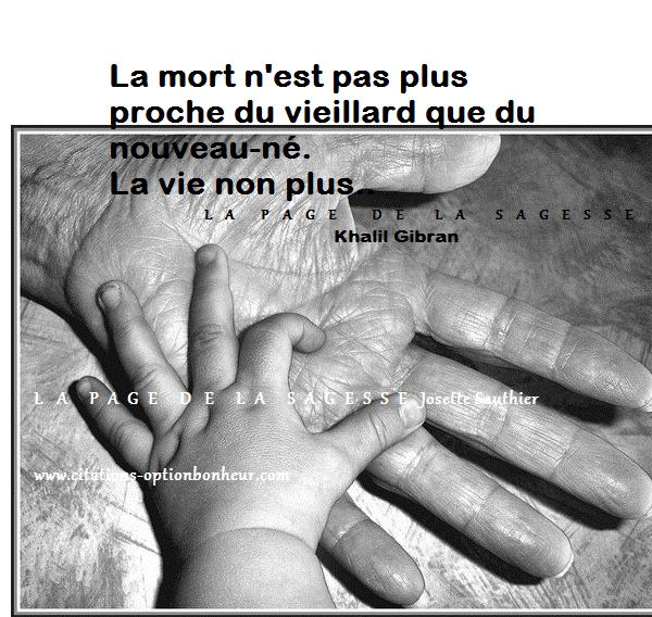 La Page De La Sagesse Citation Sur La Vie Et La Mort