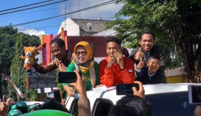 Saiful Rijal saat dikirab