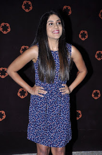 Actress Dhanya Balakrishna Stills in Floral Short Dress at Savitri Audio Launch  0015