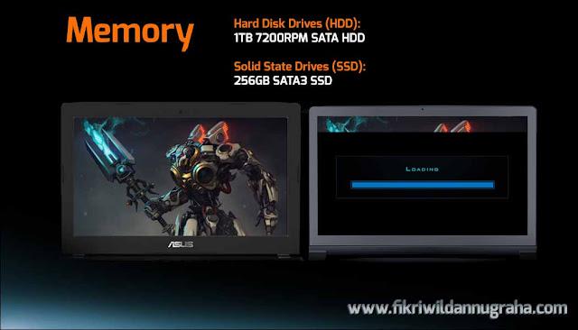 memory storage Review Asus ROG GL502VM Laptop Gaming Terbaik #WEAREROG Harga dan specification lengkap merek paling awet ROG Series murah,perbedaan seri spek republic gamers berat khusus i7 intel