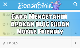 cara mengetahui blog mobile friendly