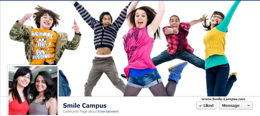 Facebook page of Smile Campus
