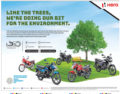 Hero Motors environment friendly ad