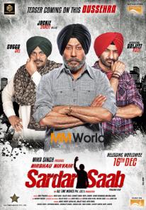 Sardar Saab (2017) Punjabi Movie DVDScr 700MB