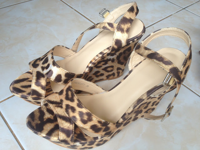 The Budget Fashion Seeker - Animal Print Wedges from Celine 2