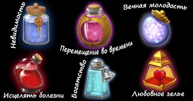 Любовное зелье или вечная молодость? Какой из этих 6 волшебных эликсиров вы бы выбрали?