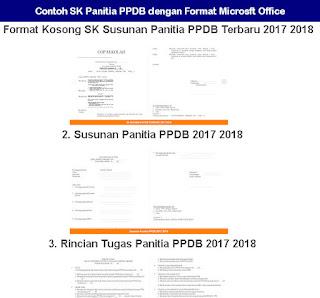 Contoh SK Panitia PPDB dengan Format Microsft Office