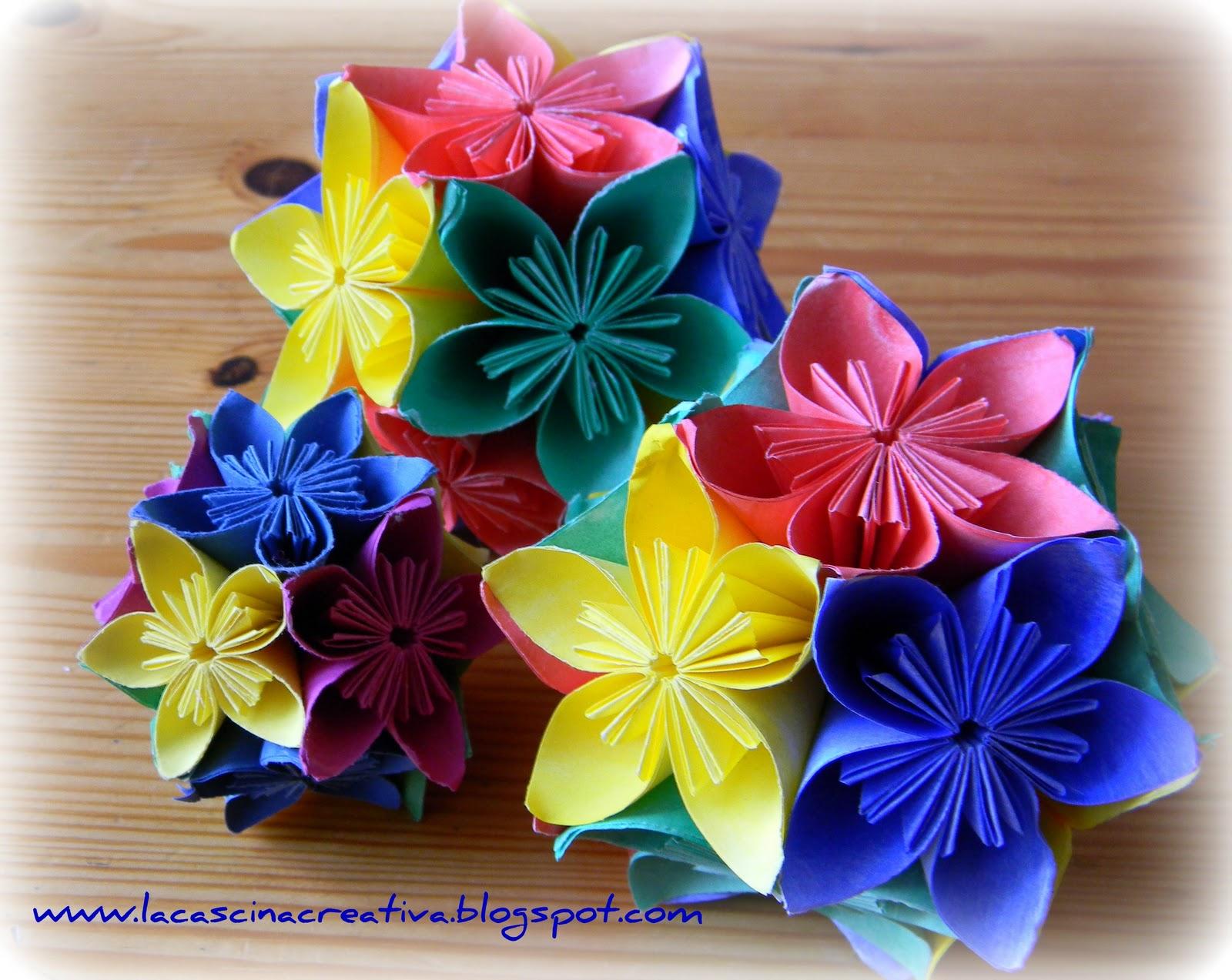 Fiori Kusudama.La Cascina Creativa Fiori E Origami Il Kusudama