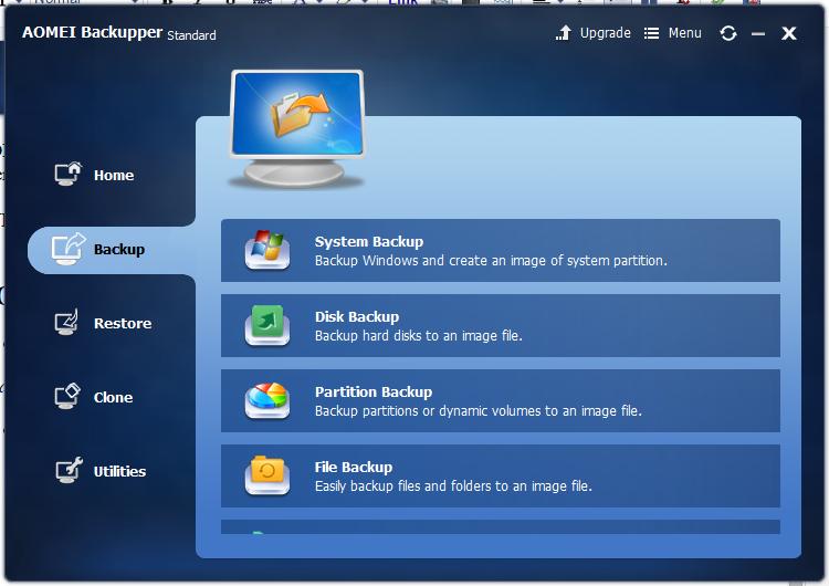 backup feature - aomei backupper standard