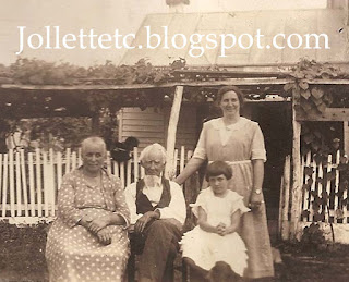 4 Generations 1921 Emma Coleman, James Franklin Jollett, Minnie Coleman Maiden, Virginia Maiden https://jollettetc.blogspot.com