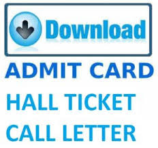 Admit Card Issued on 05 August 2017