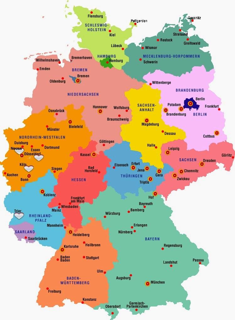 karte deutschland köln Deutschland Karte Köln | goudenelftal