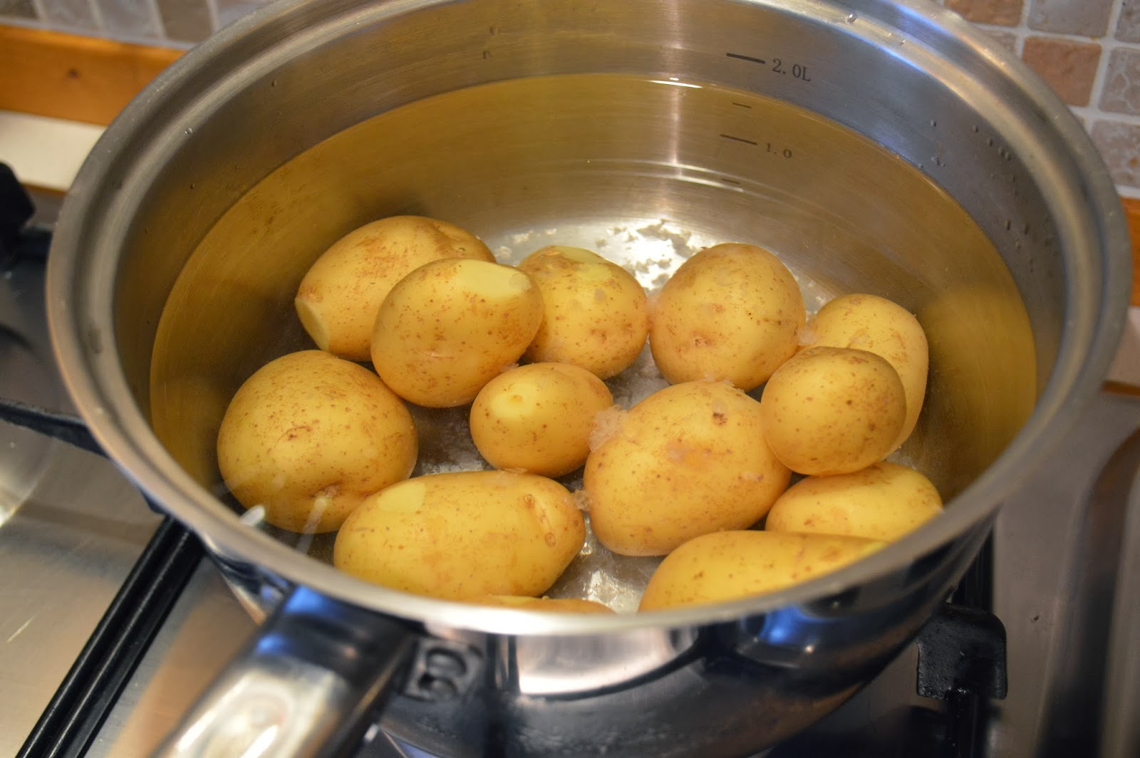 Boil the potatoes with coarse sea salt.