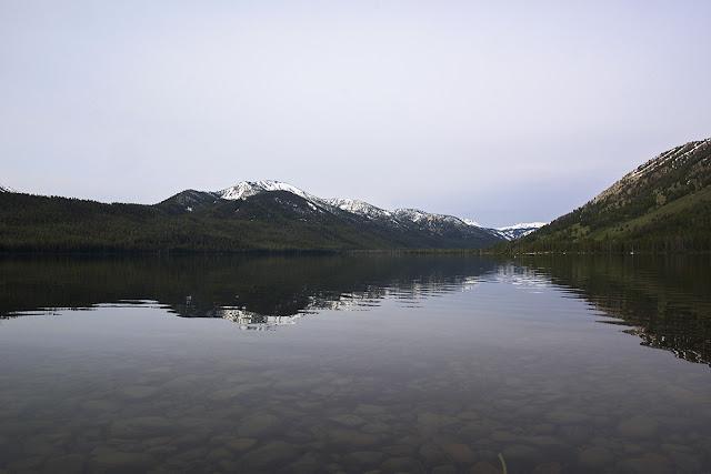 Alturas Lake near Stanley Idaho in the Sawtooth Wilderness Area