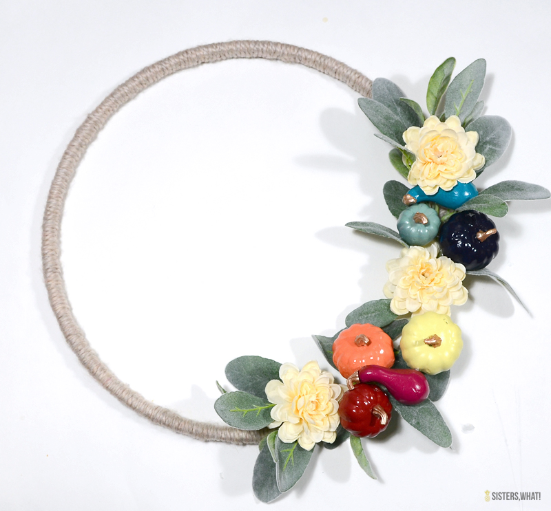 modern simple fall wreath tutorial
