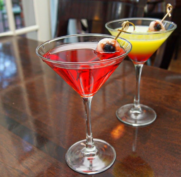 Festive martinis