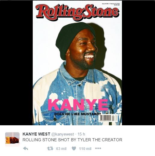 Kanye West crea portada falsa para Rolling Stone y la revista le responde.