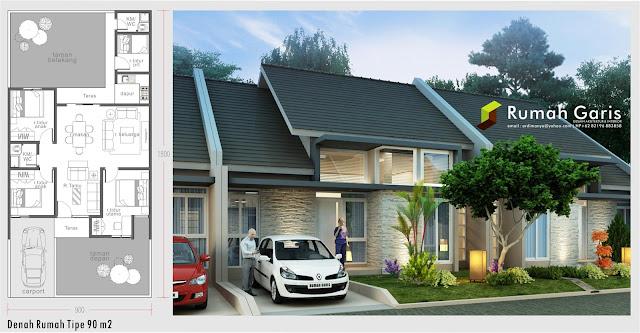 desain arsitek denah dan tampak rumah
