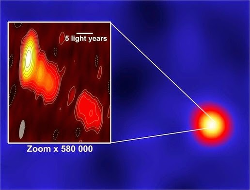 The image of a black hole in the center of IC 310