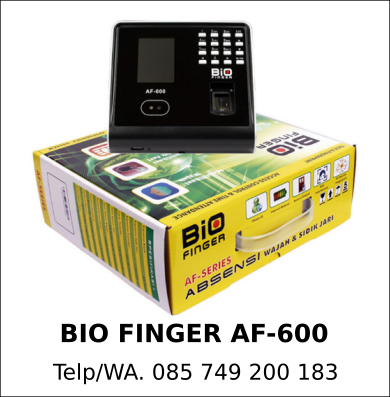 Spesialis Mesin Sidik Jari Bio Finger AF-600 Original
