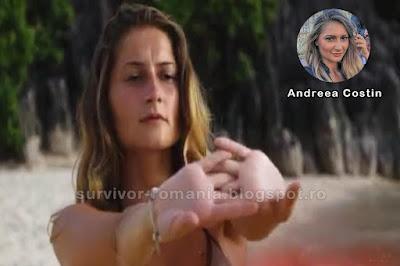 Concurenta Andreea Costin în show-ul Supraviețuitorul