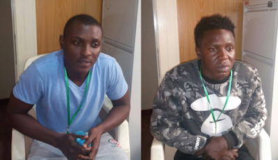 Internet Scam:EFCC Nabs Egbedayo Semilore,26, and Elijah Jeremiah, 29
