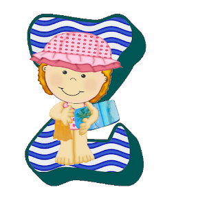 Abecedario de Verano con niños. Summer Alphabet with Children.