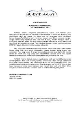 Kenyataan Media MUNSYID Malaysia