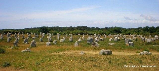 menhires de Carnac, Francia
