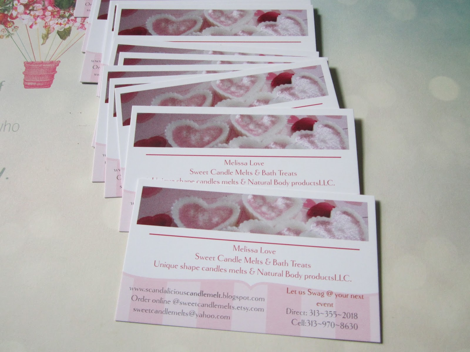 Sweet Candle Melts And Bath Treats: Behind the Scene: Business Cards