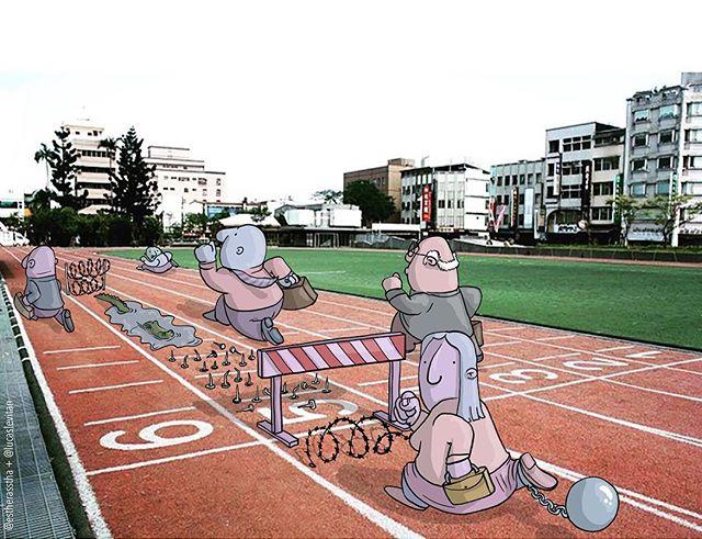 foto unik lucu kreatif dan inovatif foto asli yang dipadukan dengan kartun-12