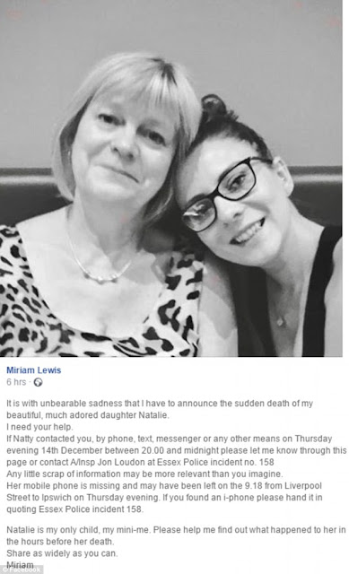 natalie s mother miriam lewis found natalie hanged in her bedroom