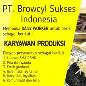 Lowongan Kerja Karyawan Produksi PT Browcyl Sukses Indonesia